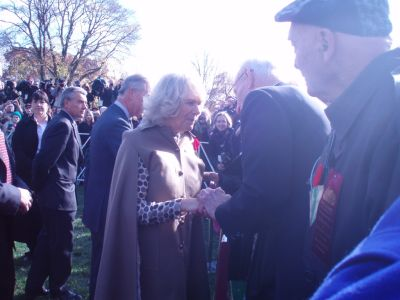 Camilla speaking with Okill Stuart