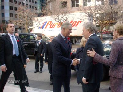 Prince Charles and Jean Charest in Montreal
